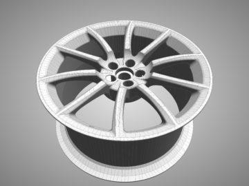 Tessellated IGES rim model