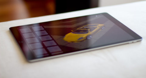 iPad Pro running 3D Modeler project iOS app