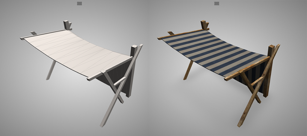Canopy model with diffuse, normal and specular map