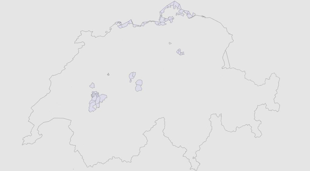 Openstreetmap Postal Code Relations in Switzerland